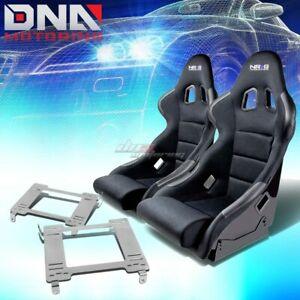 Nrg Type R Deep Bucket Racing Seats Full Stainless Bracket For 94 05 Neon R T
