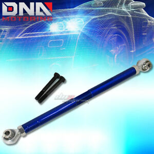 For 89 98 Nissan 240sx Blue Adjustable Rear Lower Traction Support Tie Rod Bar