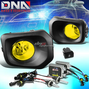 Yellow Lens Driving Fog Light Lamp Switch 3000k Hid Kit Fit 16 Toyota Tacoma