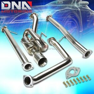 J2 Catback Exhaust Pipe Twin Loop Muffler 3 5 Rolled Tip Fits Fiat 500 1 4l Sohc