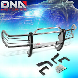 For 93 98 Grand Cherokee Zj Suv Black Coated Mild Steel Front Grill Guard Flame