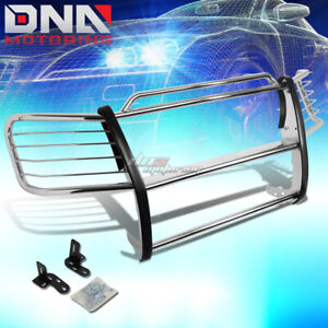 For 2002 2006 Chevy Avalanche Stainless Steel Front Bumper Grill Guard Protector