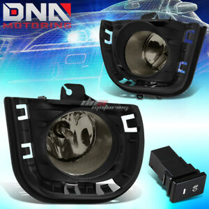 For 14 Scion Tc Smoked Tinted Oe Fog Light Bulb Bumper Vent Bezel Grille Switch