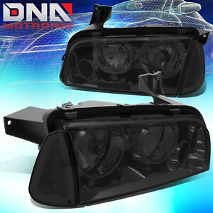 For 06 10 Dodge Charger Lx Smoke Clear Side Turning Corner Headlamp Head Light