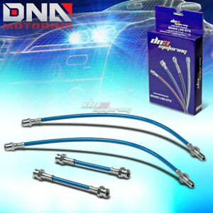 93 98 Vw Golf Jetta Mk3 1h Blue Stainless Steel Braided Hose Brake Line Cables