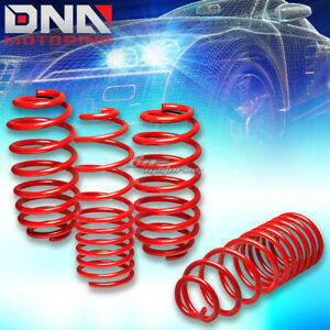 06 12 Vw Golf Rabbit Red 1 25 Drop Suspension Lowering Springs Spring 255 245lb