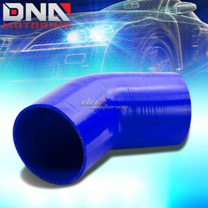 3 25 3 ply Reinforced 45 degree Elbow Intake Piping Silicone Coupler Hose Blue