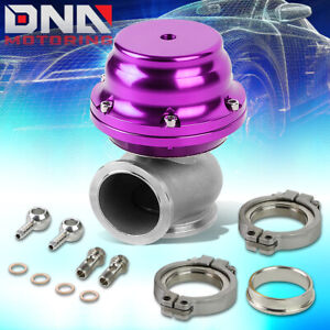 44mm Turbocharger Exhaust Manifold Turbo Boost Purple V band Clamp Wastegate Kit
