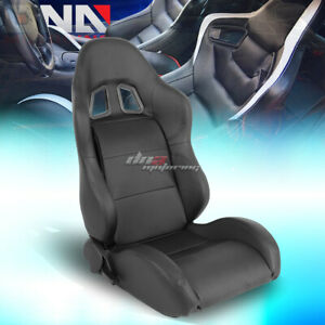Reclinable Black Type Xl06 Pvc Leather Sporty Bucket Race Racing Seat Right Side