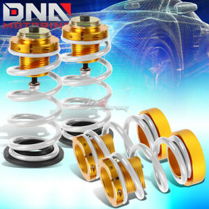 For 06 11 Civic 1 4 Adjustable Suspension Coilover Sleeve Kit W white Spring