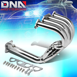 For 94 01 Integra Db Dc Stainless Steel 4 1 Long Tube Header Exhaust Manifold
