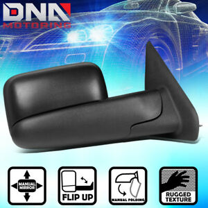 For 2002 2009 Dodge Ram Truck Manual Adjustment Flip Up Tow Towing Mirror Right