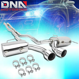 For 2011 2014 Cadillac Cts V Coupe 6 2l Dual Muffler Catback Exhaust System Tip