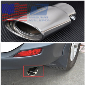 Chrome Stainless Steel Car Exhaust Tail End Pipe Tip Muffler From Us Warehouse