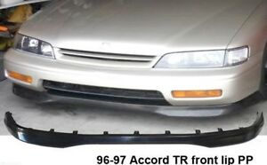 Fit 96 97 Honda Accord 2 4dr Type R Style Front Lip Unpainted Polyproplyene Bk