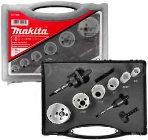 Makita 9 Piece Electricians Bi metal Hole Saw Kit For Drills Precise Boring