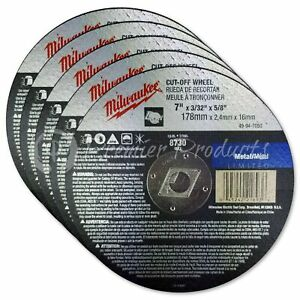 Milwaukee 5 Pack 7 Cut Off Wheels For 7 25 Circular Saws On Metal stainless