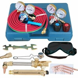 Zeny New Portable Gas Welding Cutting Torch Kit W hose Oxy Acetylene Brazing Set