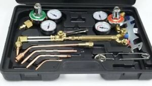 Gas Cutting Welding Kit Torch Acetylene Victor Style Welder Oxygen Oxy Regulator