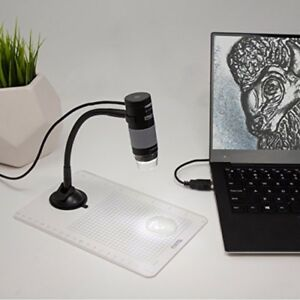 Usb 2 0 Plugable Digital Microscope With Flexible Arm For Windows Mac Linux 2mp