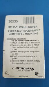 Electrical Box Self closing Cover 2 125 Mulberry 30535 Heavy Duty Die cast One