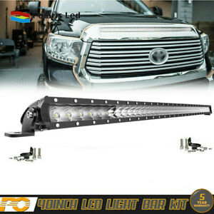 42 Curved Led Light Bar Front Upper Roof Wiring For 2014 18 Toyota Tundra 40