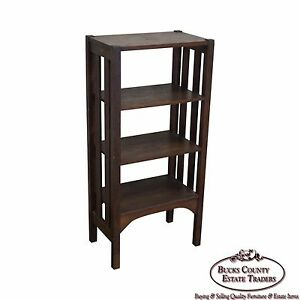 Antique Mission Oak Stickley Era Bookstand Bookcase