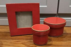 Rare Kate Spade Leather Desk Accessories