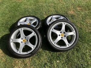 Set Of 19 Inch Factory Oem Ferrari 458 Rims Wheels Pirelli Tires 90 Tread