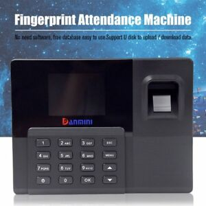 Danmini Fingerprint Attendance Machine Time Clock Reader Biometric Eu Plug Ts