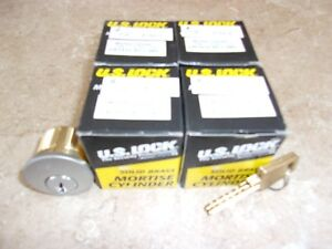 Us Lock 1510 1 Mortise Cylinders Sc1 26d A r Cam Lot Of 5 New