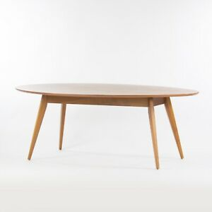 Custom Florence Knoll 78 Inch Oval Walnut Dining Conference Table Saarinen Tulip