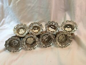 Vintage Glass Door 4 Sets 8 Knobs Matching W Set Screws Spindle 2