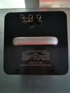 General Radio 1482 f Standard Inductor Calibrated