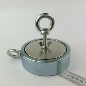 2200lb 2 Neodymium Salvage Fishing Magnet D135 40mm Detect Recovery Retriewing