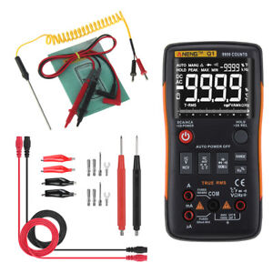 Q1 True Rms Lcd Digital Auto Range Multimeter Ac dc Tester Meter Lead Probe
