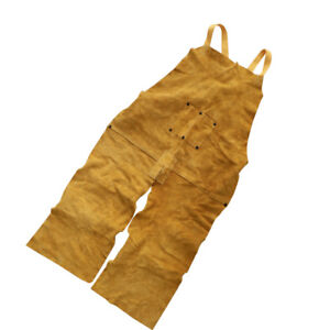 Artificial Leather Aprons Welding Clothing Safety Workwear For Welder Yellow