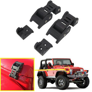 Exterior Hood Lock Latch Catch Pin Hardware Kit Set For Jeep Wrangler Jk Jku ya