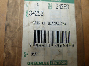 Greenlee 34253 Replacement Blades For 754 Ratcheting Cable Wire Cutter New