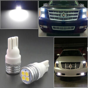 Xenon White T10 194 Led Front Sidemarker Lights Bulbs Fit For Cadillac Gmc Etc