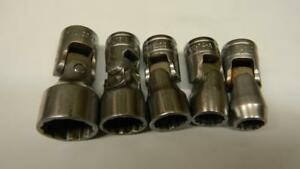 Snap on 3 8 Drive 5pc Sae 12pt Universal Socket Set