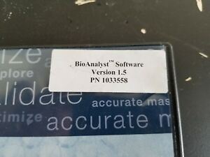 Applied Biosystems Bioanalyst Software Version 1 5 P n 1033558