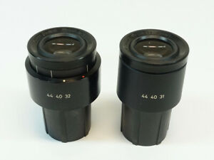 Pair Of Zeiss Pl 10x 20 Microscope Eyepieces Pn 444031 444032