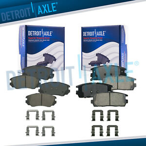 Front Rear Ceramic Brake Pads 2010 2011 2012 2013 2014 2017 Equinox Terrain