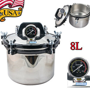 8l Stainless Steel Dental High pressure Saturated Steam Sterilizer Disinfector