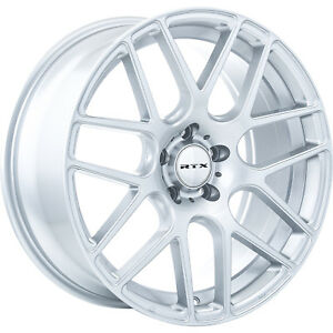 18x8 Silver Rtx Envy Wheels 5x4 5 38 Fits Pontiac Vibe 5 Lug Only