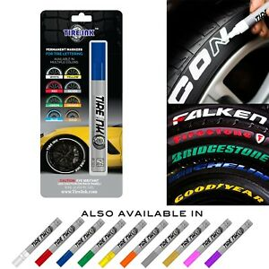 Tire Ink Permanent Marker For Tire Sticker Lettering Paint Pen Usa Seller Blue