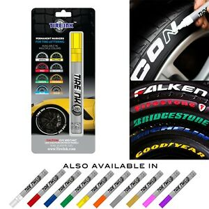 Tire Ink Permanent Marker For Tire Sticker Lettering Paint Pen Usa Seller Yellow