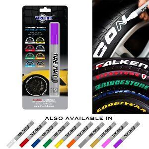 Tire Ink Permanent Marker For Tire Sticker Lettering Paint Pen Usa Seller Purple