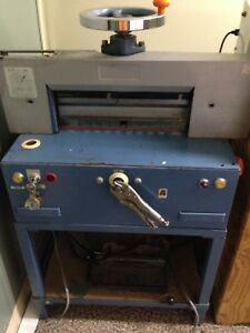 Electric Paper Cutter Uamada Blue 18 Length 500 Sh Good Condition From Japan